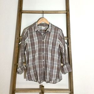 Steven Alan Women's Lurex Plaid Button-up Shirt M